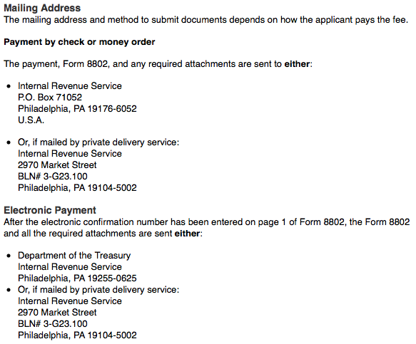 Form 8802 Application – Residency Certification – KS2SK