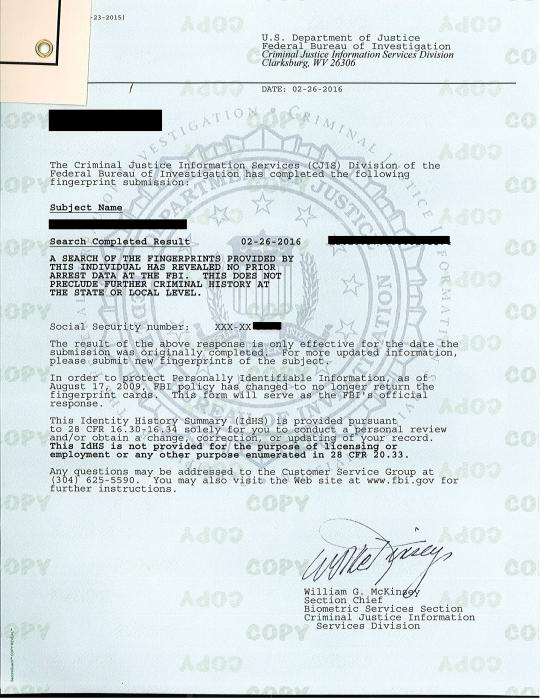 background check fbi file fingerprinting